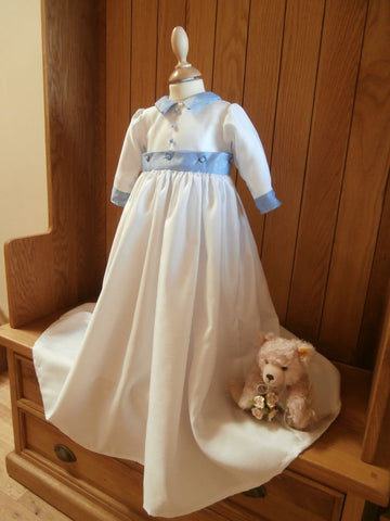 The Edward convertible christening gown/romper.