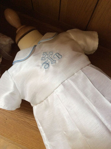 The Peter boys christening outfit.