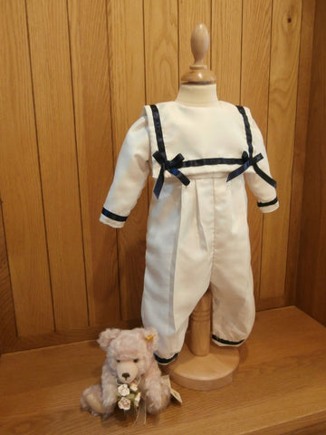 The William traditional christening sailor suit.
