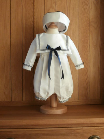 The William sailor outfit with braid trim and matching hat