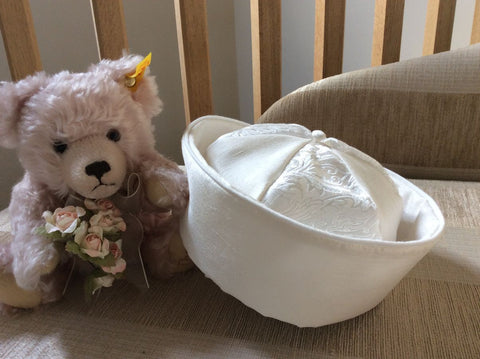 The Charles Sailor Brocade Christening Hat