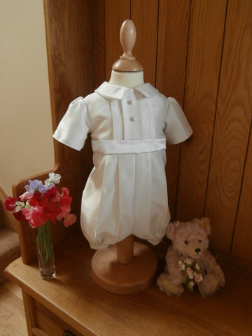 The George boys christening outfit.