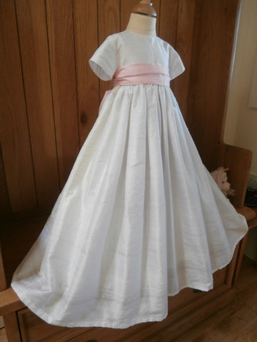 The Paris unisex silk christening gown.