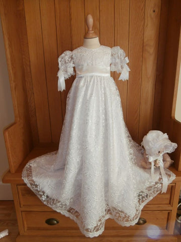 The Emily lace christening gown