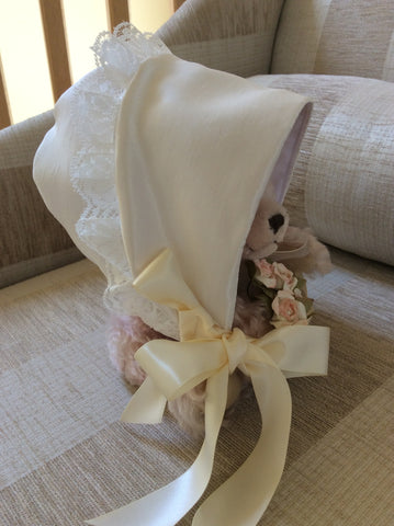 The Rebecca christening bonnet.