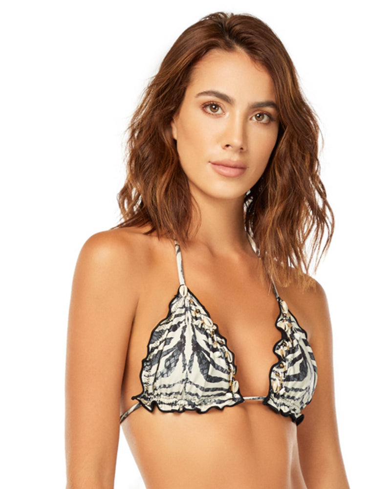ZEBRA TRIANGLE TOP