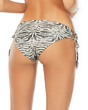 ZEBRA WIDE TIE SIDE BOTTOM BIKINI