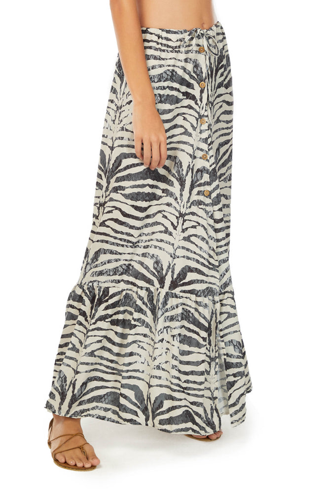 ZEBRA COVER UP SKIRT