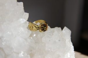 3rd Eye Vintage Glass Brass Ring - We Love Brass
