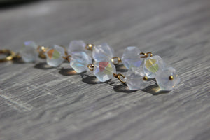 Milky Aura Quartz Earrings