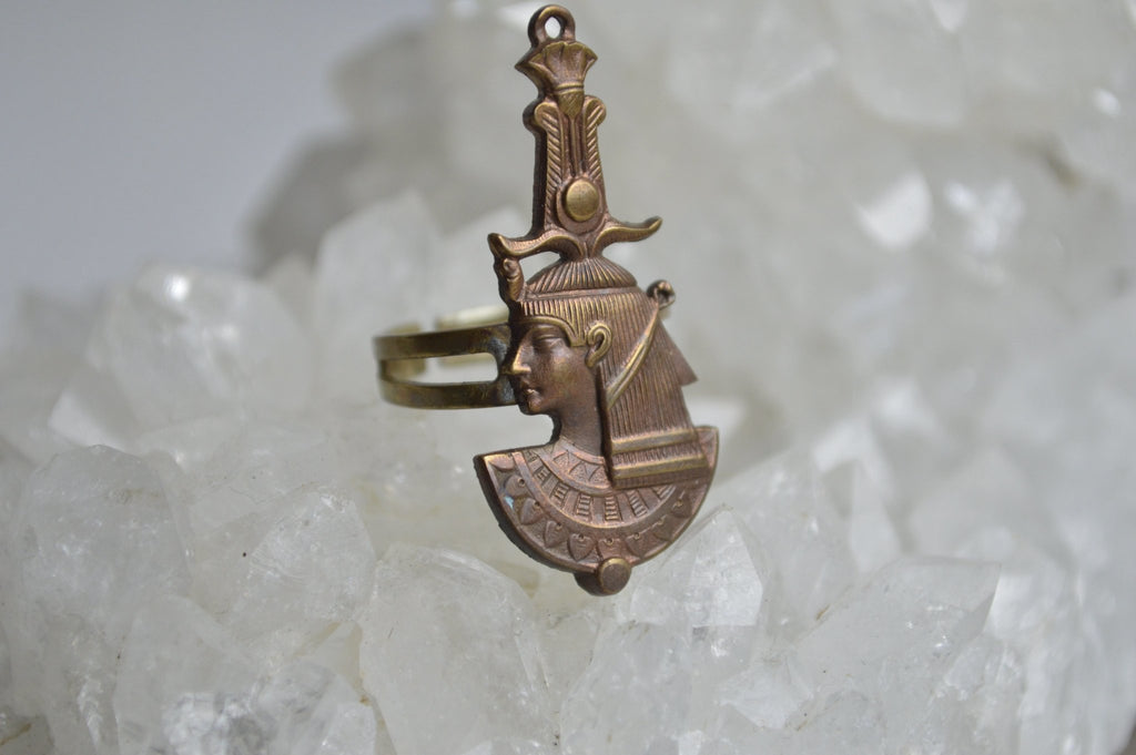 Atef Brass Egyptian Revival Ring - We Love Brass