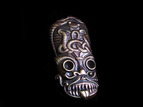 Barong Mask Ring - Golden Treasure Box