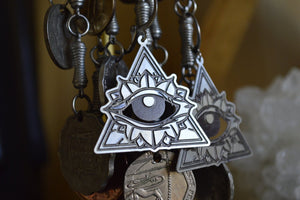 Bloom - Stainless Evil Eye Earrings - We Love Brass