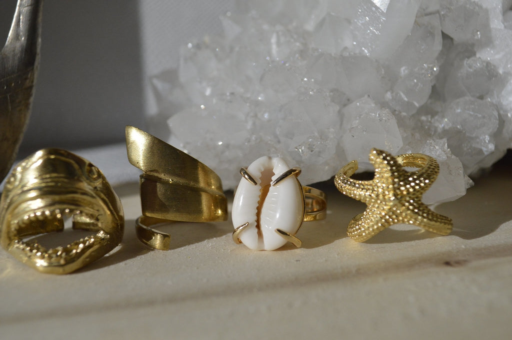 Coral Reef Brass Ring Set - We Love Brass