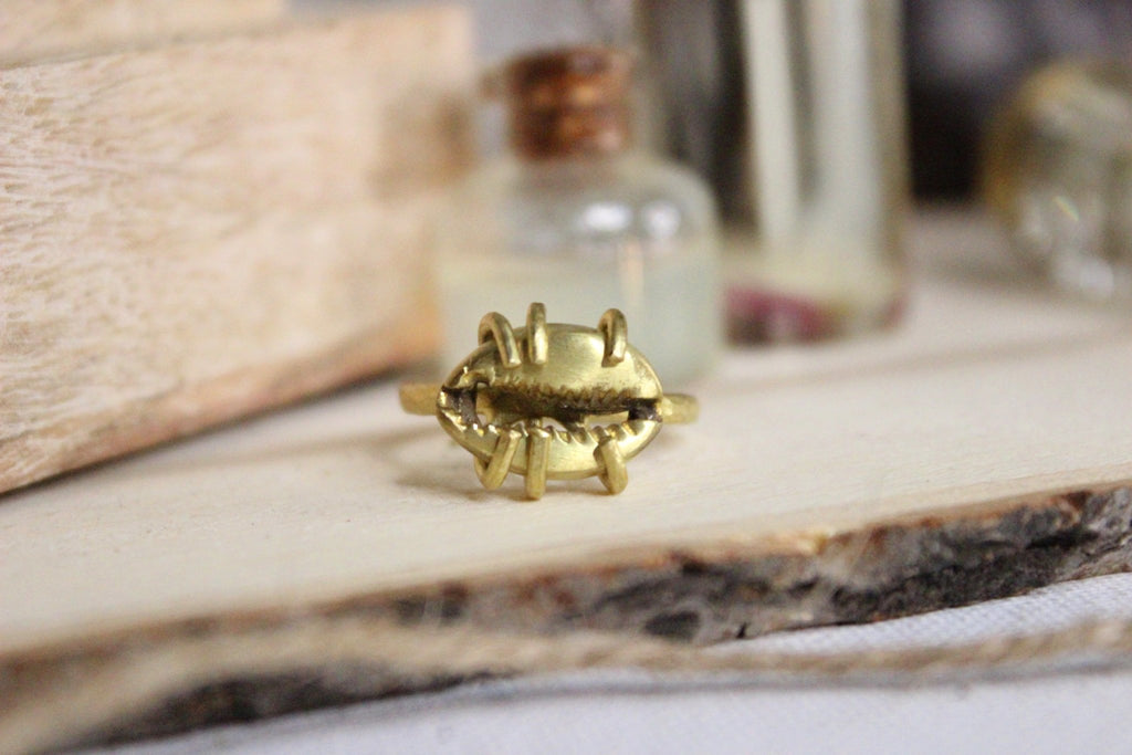 Cowrie Shell Ring - Brass - We Love Brass
