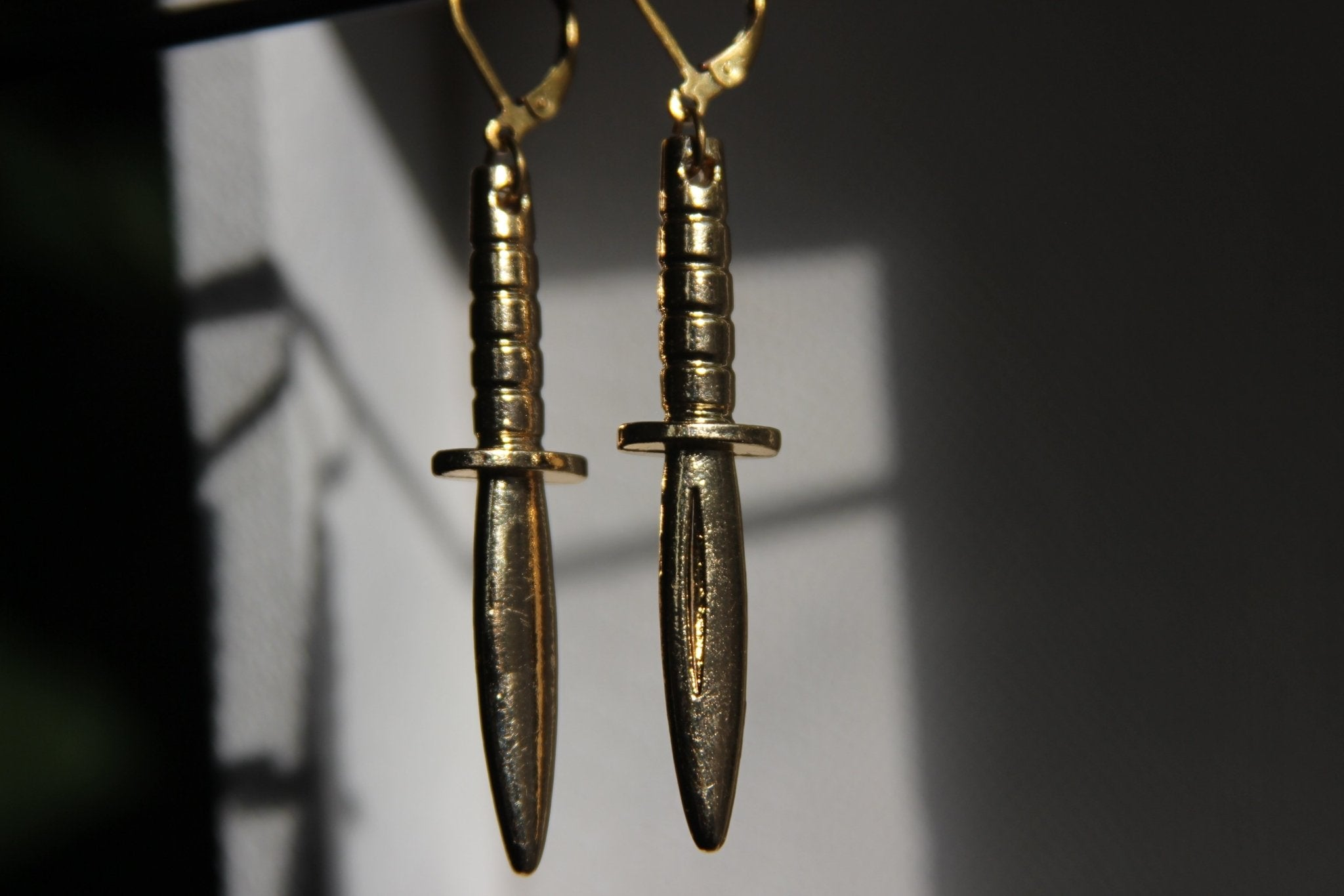 Dagger Earrings - We Love Brass