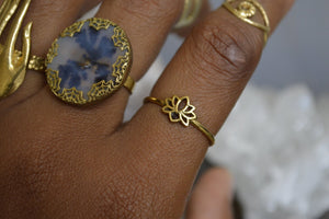 Dainty Brass Lotus Ring - We Love Brass