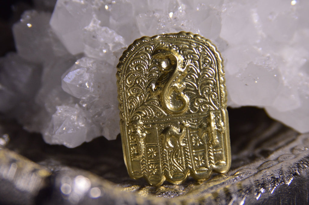 Desert Hamsa Brass Ring - We Love Brass