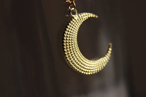 Ebb and Flow Brass Crescent Moon Necklace - We Love Brass