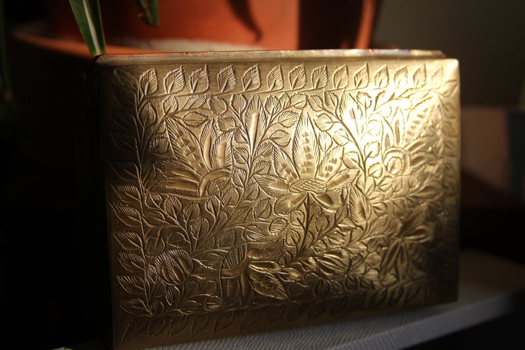 Egyptian Lotus Brass Jewelry Box - We Love Brass