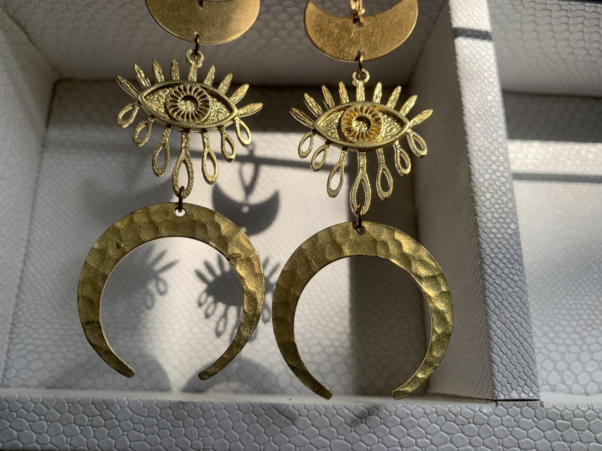 Evil Eye Brass Earrings - We Love Brass