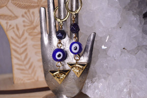 Evil Eyed Brass Earrings - We Love Brass