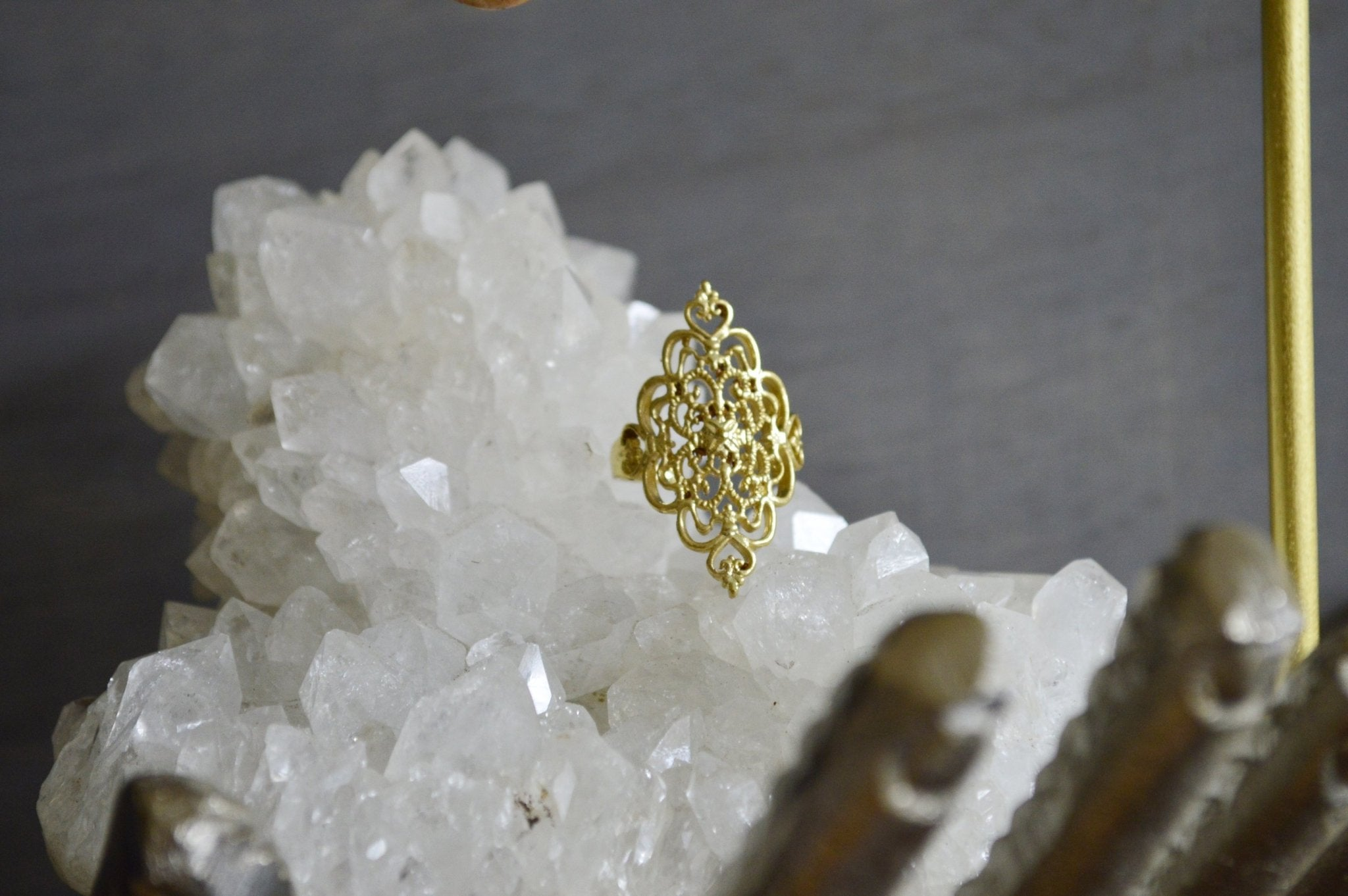 Filigree Brass Ring - We Love Brass