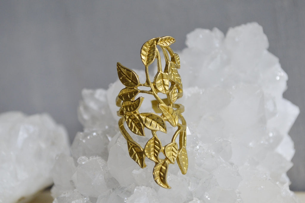 Fine Vines Brass Ring - We Love Brass