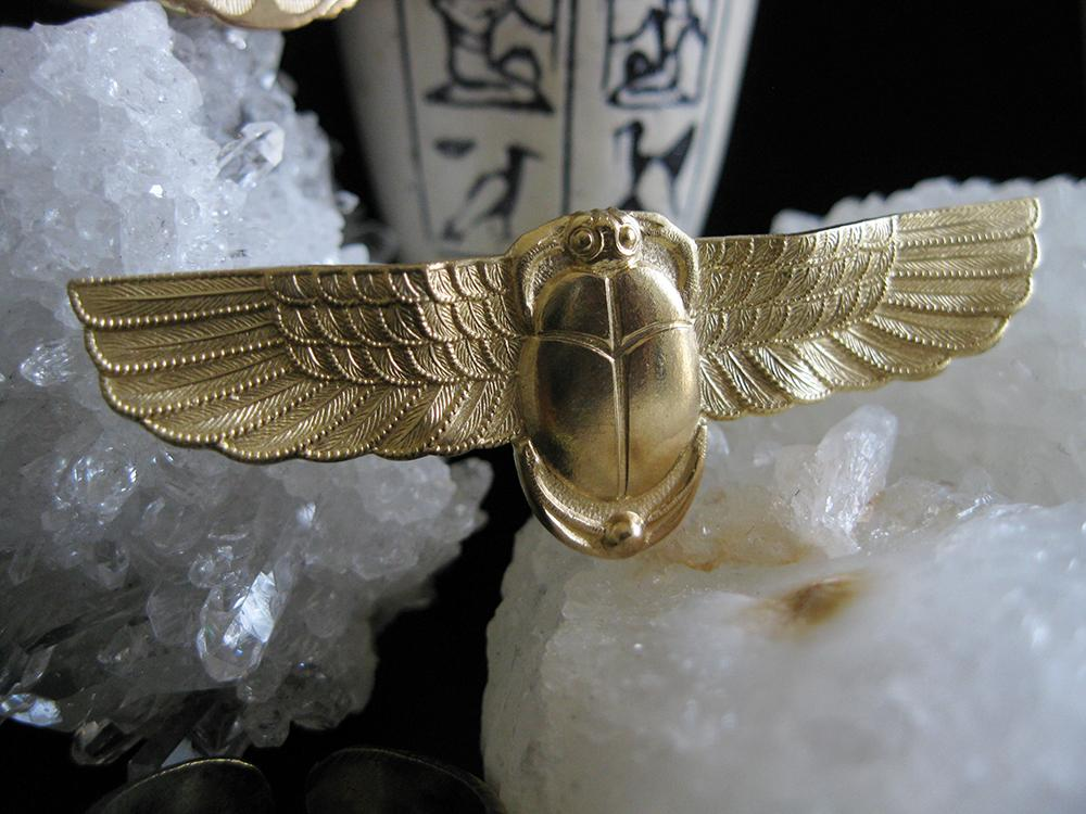 Flight of the Scarab - Golden Treasure Box