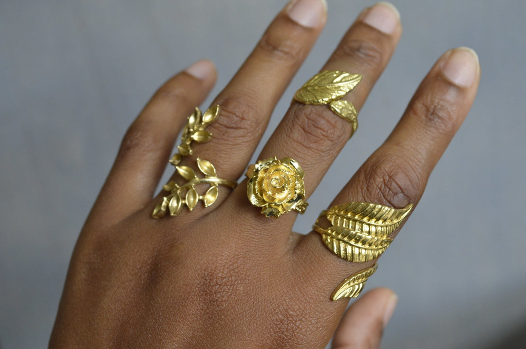Florido Brass Rings Jewelry Set - We Love Brass