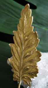 Giant Golden Leaf Ring - Golden Treasure Box