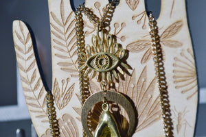 Good Omens Brass Evil Eye Necklaces - We Love Brass
