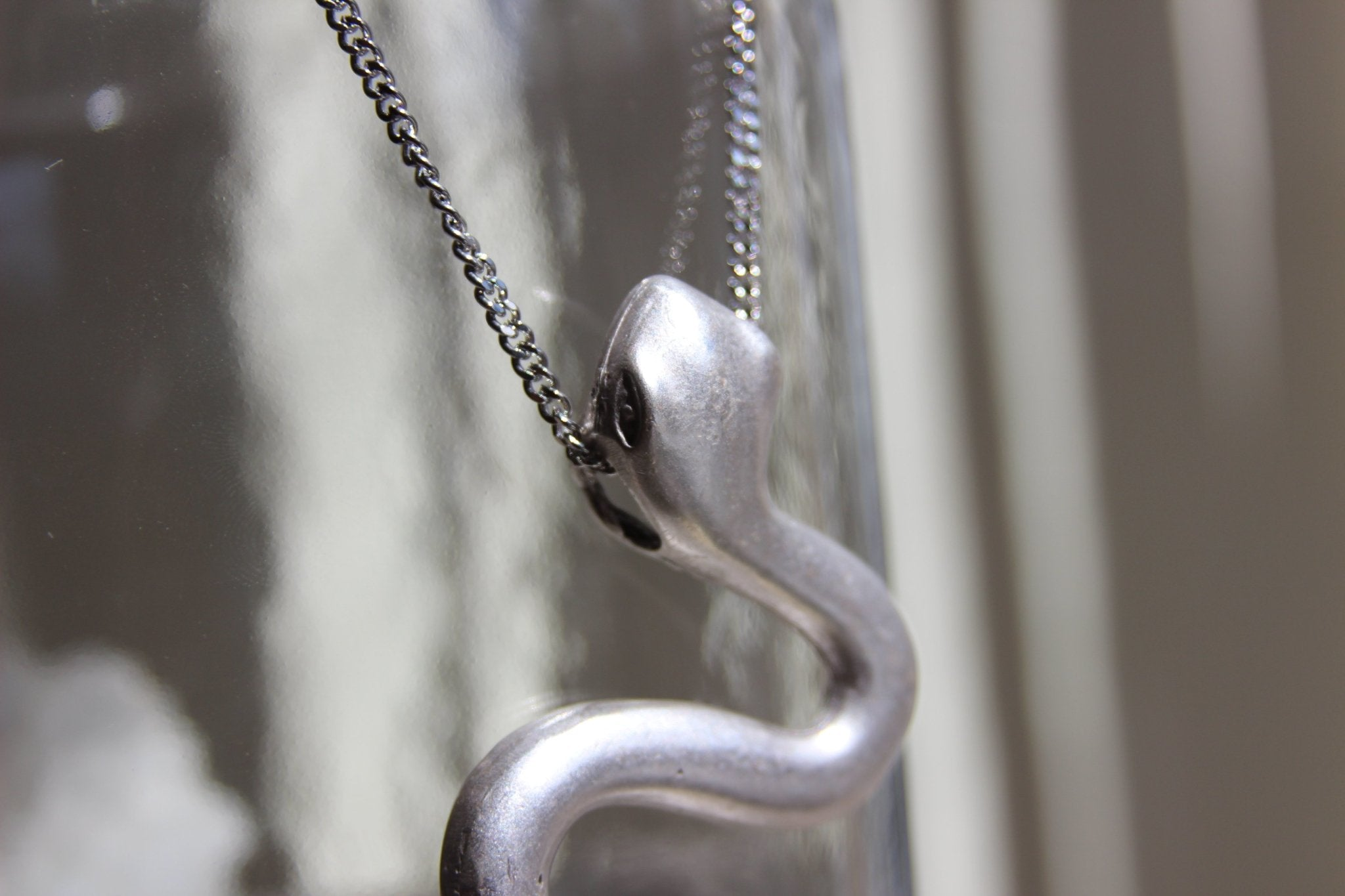 Haus of Slytherin Large Serpent Necklace - We Love Brass