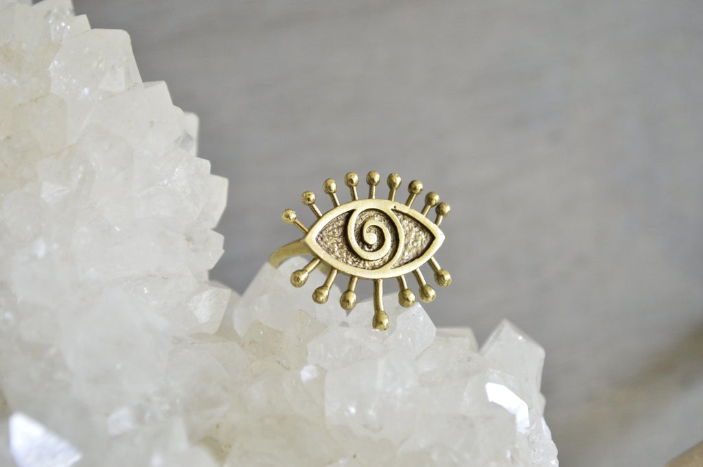 Hypnotize Brass Eye Ring - We Love Brass