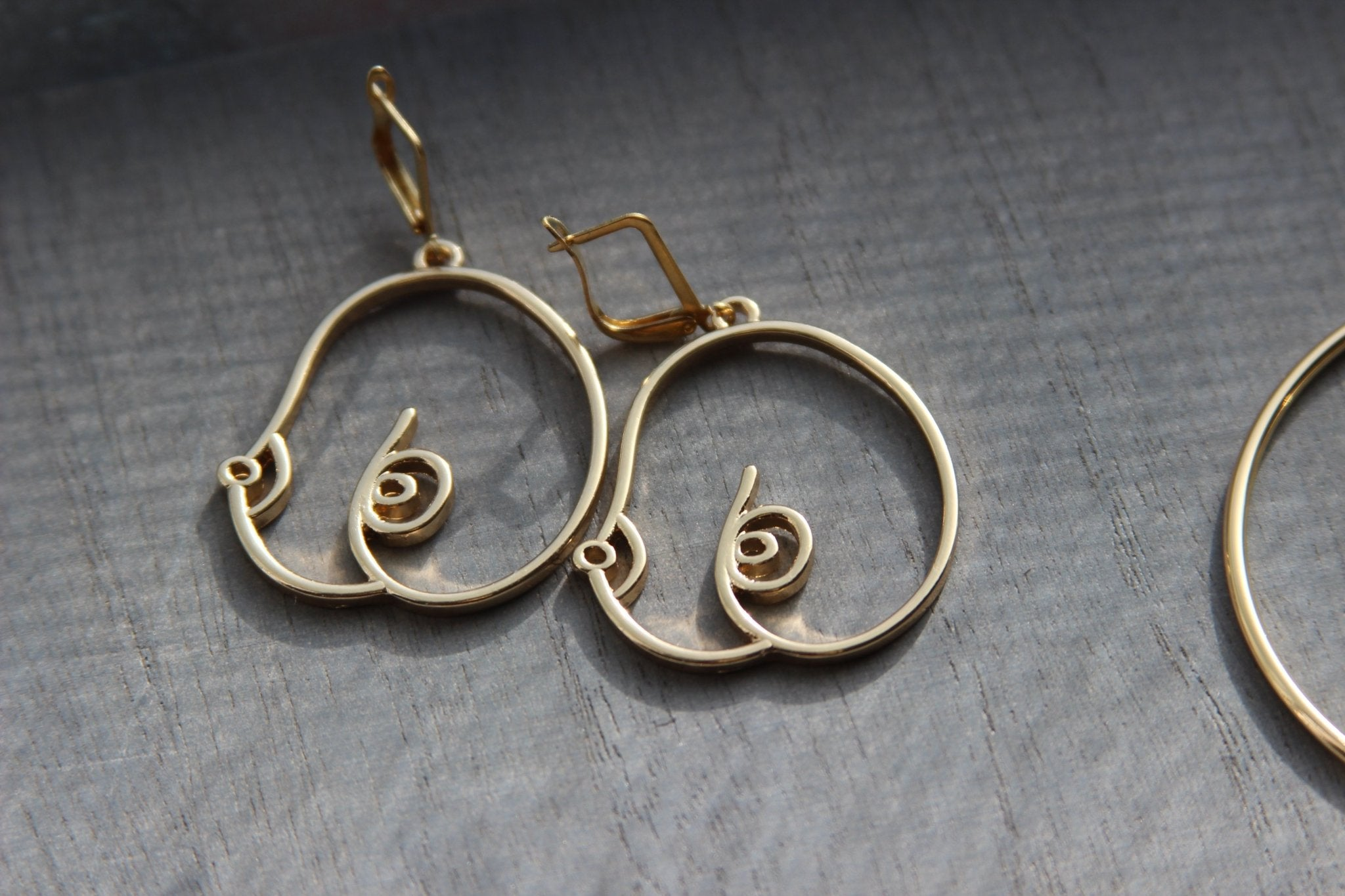 Jus' the Tiddies Earrings - We Love Brass