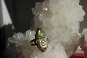 Labradorite Spirit Ring - We Love Brass