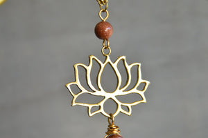 Lotus Blossom Divine Feminine Amulet Set - We Love Brass
