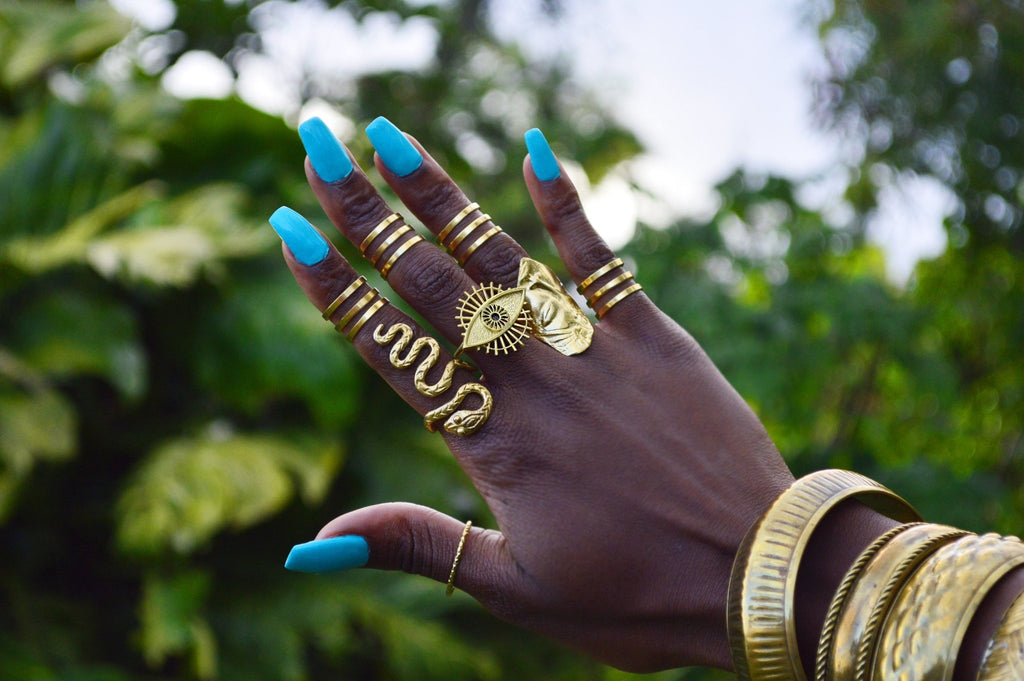 Luminary 3rd Eye Brass Ring - We Love Brass
