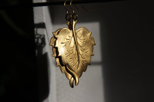 Lush Leaf Brass Earrings - We Love Brass