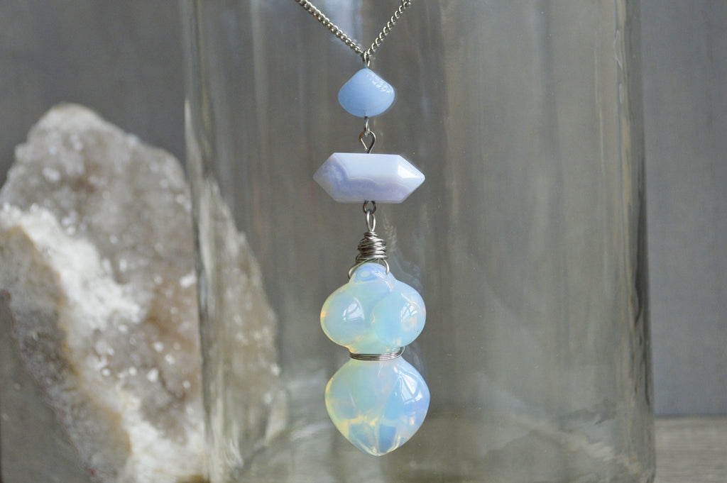 Mother Maya Brass Opalite Necklace - We Love Brass