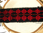 Load image into Gallery viewer, Red Black Beaded Choker - We Love Brass