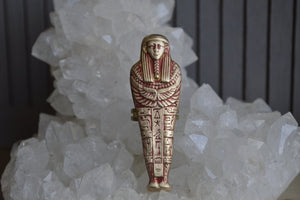 Red Vintage Sarcophagus Brass Ring - We Love Brass