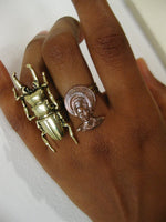 Load image into Gallery viewer, Scarab Beetle Ring - Golden Treasure Box
