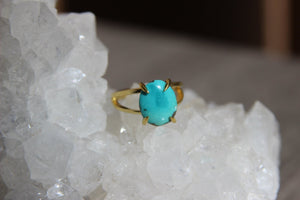 Sierra Nevada Turquoise Brass Ring - We Love Brass