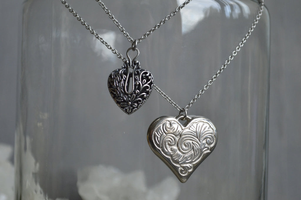 Silver Hearts Necklaces - We Love Brass