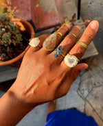 Load image into Gallery viewer, Solar Quartz - Crystal Brass Ring - We Love Brass