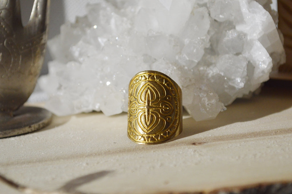 Southwestern Inspired Brass Cuff Ring - We Love Brass