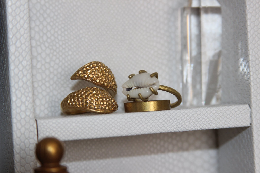 Tentacles Brass Cowrie Ring Set - We Love Brass