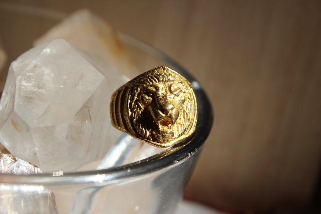 The Lion's Share Brass Ring - Golden Treasure Box