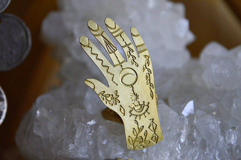 The Summoner - Brass Jewelry Ring - We Love Brass